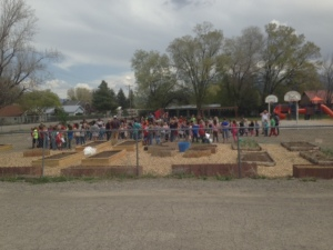 Earth Day opening at Hotchkiss K8 Garden